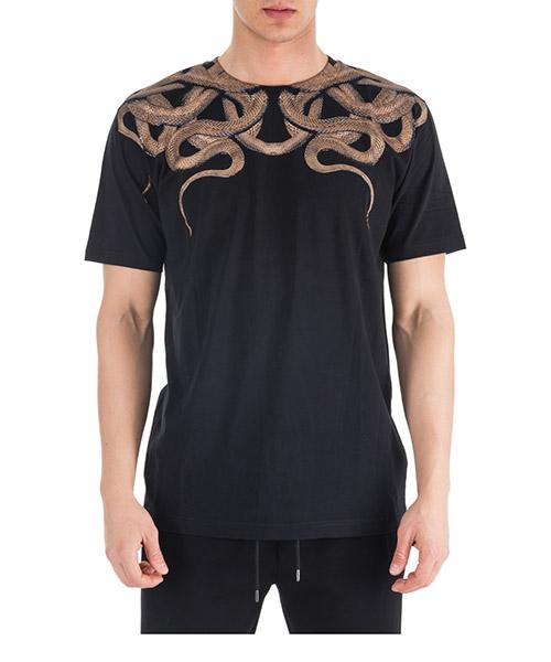 T-shirt Marcelo Burlon Snakes CMAA018R190010191093 black gold