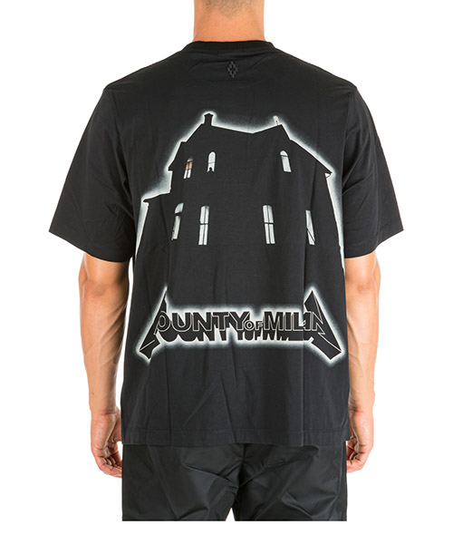 T-shirt Marcelo Burlon Ghost House CMAA054E190010181048 nero