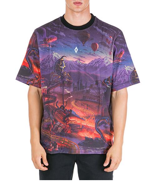 T-shirt Marcelo Burlon Fantasy CMAA054F19B490128801 nero