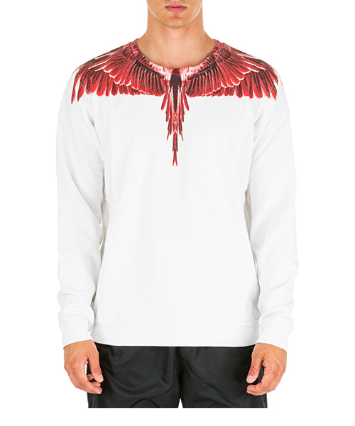 Sweatshirt Marcelo Burlon wings cmba009e196300030188 bianco