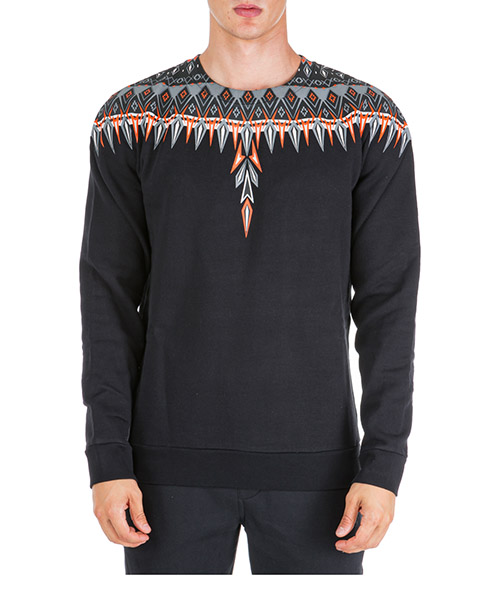 Felpa Marcelo Burlon norwegian wings cmba009f195060041088 nero