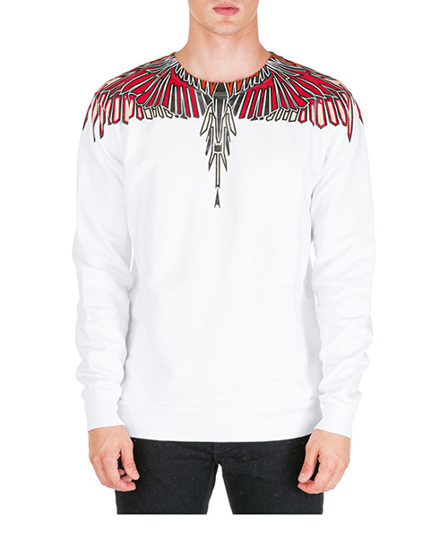 Sweat Marcelo Burlon wings cmba009f195060050188 bianco