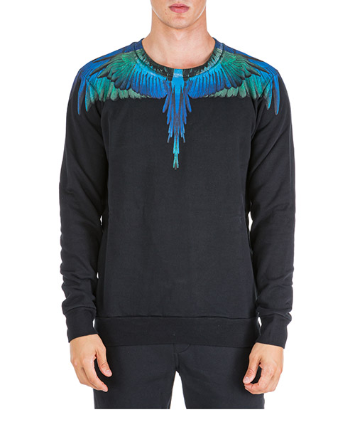 Sweat Marcelo Burlon Wings CMBA009F195060061088 nero