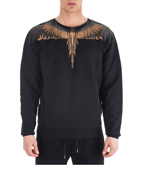 Sweatshirt Marcelo Burlon Wings CMBA009R196300181093 nero
