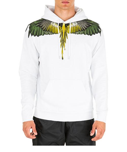 Felpa con cappuccio Marcelo Burlon wings cmbb007e196300010188 bianco