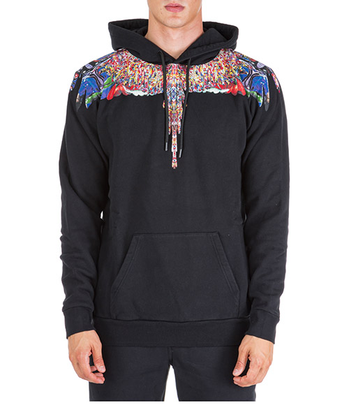 Sweat à capuche Marcelo Burlon Multicolor wings CMBB007F195060221088 nero