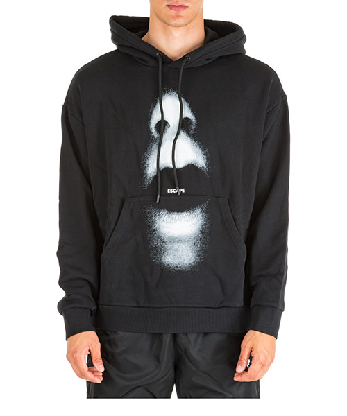 Hoodie Marcelo Burlon mouth over cmbb064e196300231006 nero