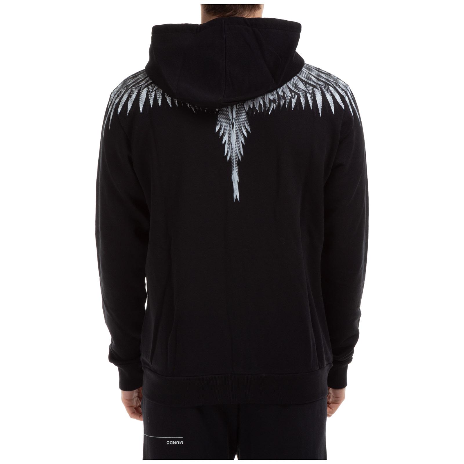 EMS Zip Up Hoodie Angel Wings Hooded Sweatshirt for Men
