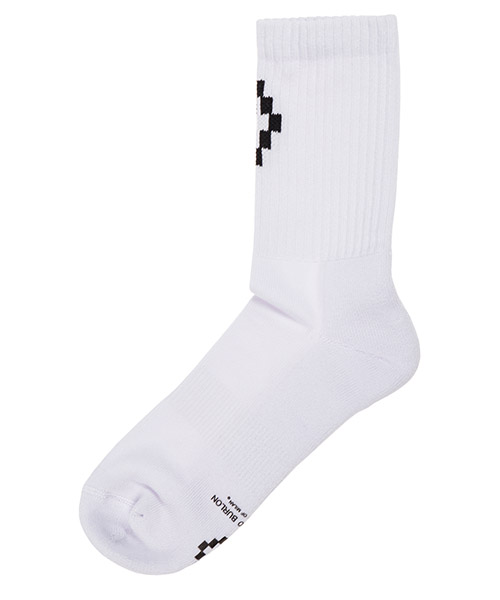 Knee high socks Marcelo Burlon Cross CMRA003E190960350110 bianco