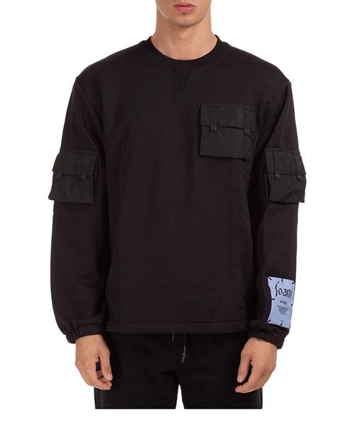 Sweatshirt MCQ foam 625096rpt8 11000 nero