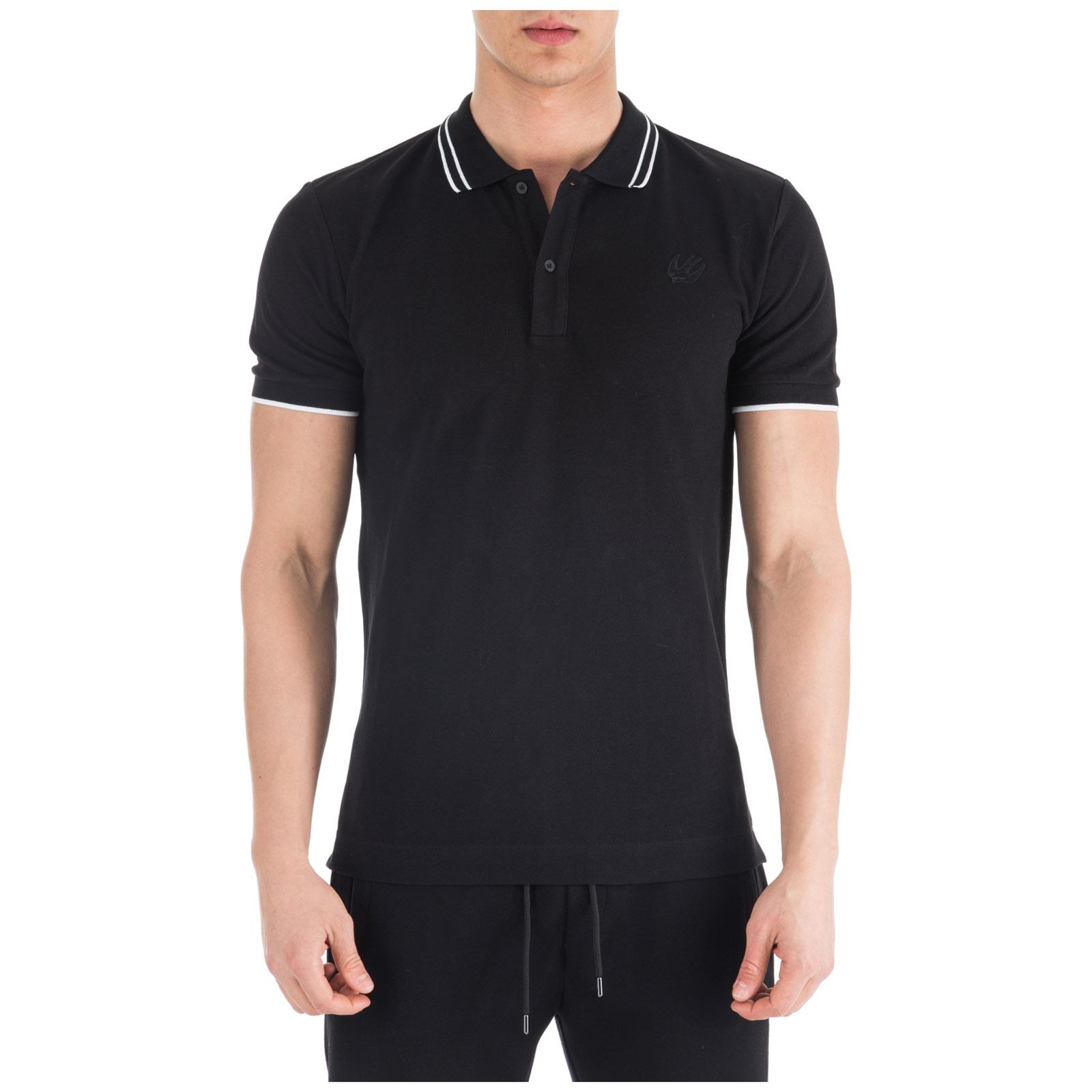 Men's short sleeve t-shirt polo collar swallow