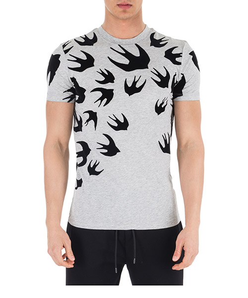 Men's short sleeve t-shirt crew neckline jumper swallow