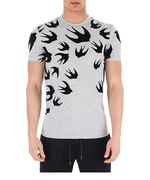 T-shirt MCQ Alexander McQueen Swallow 277605 RGH80 1225 mercury melange