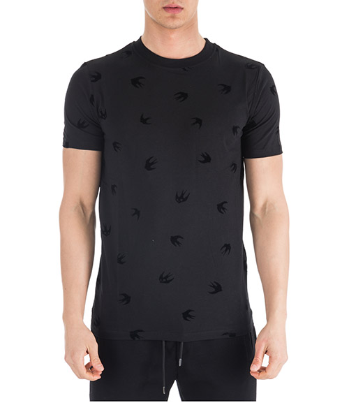 T-shirt MCQ Alexander McQueen Swallow 277605 RIT67 1000 darkest black