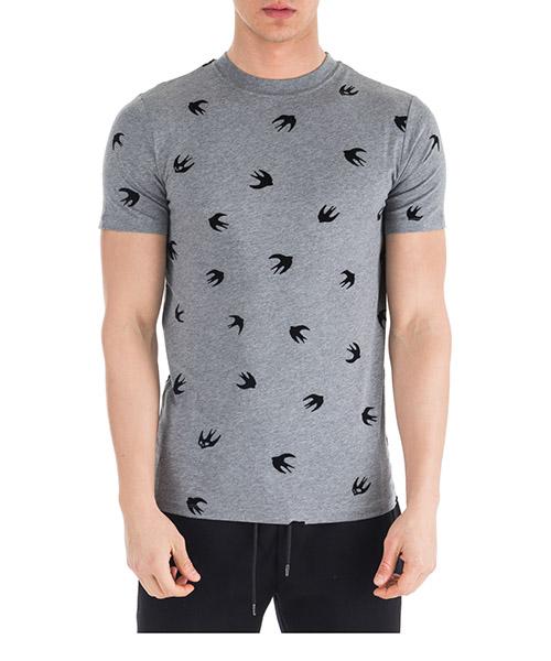 T-shirt MCQ Alexander McQueen Mini Swallow 277605 RIT68 1244 stone grey melange