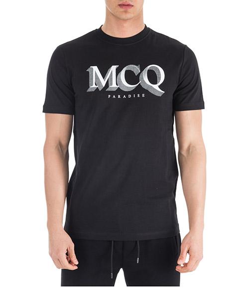 T-shirt MCQ Alexander McQueen Paradise 277605RLH441000 nero