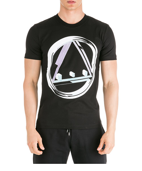 T-shirt MCQ Alexander McQueen Icon Sphere 277605RNT111000 black