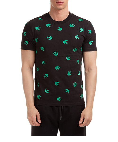 T-shirt MCQ Alexander McQueen swallow 277605ROR601040 nero