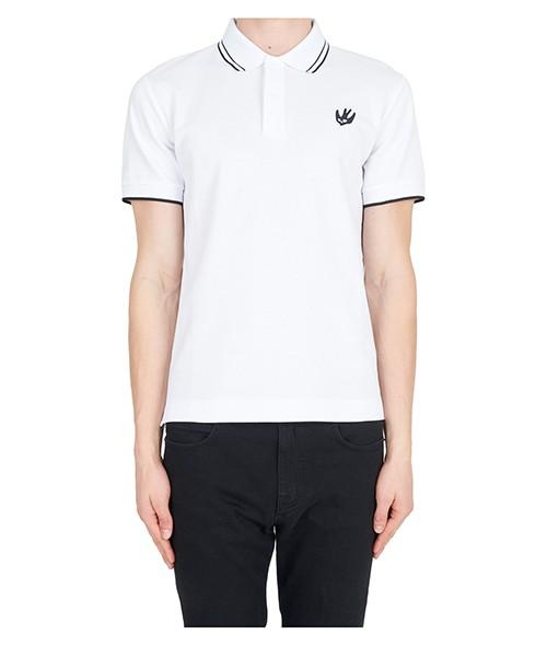 Polo t-shirt MCQ Alexander McQueen Badge Swallow 277624RLR079000 bianco