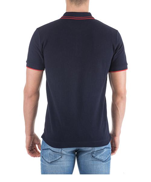 Men's short sleeve t-shirt polo collar swallow secondary image