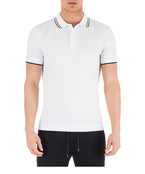 Men's short sleeve t-shirt polo collar swallow