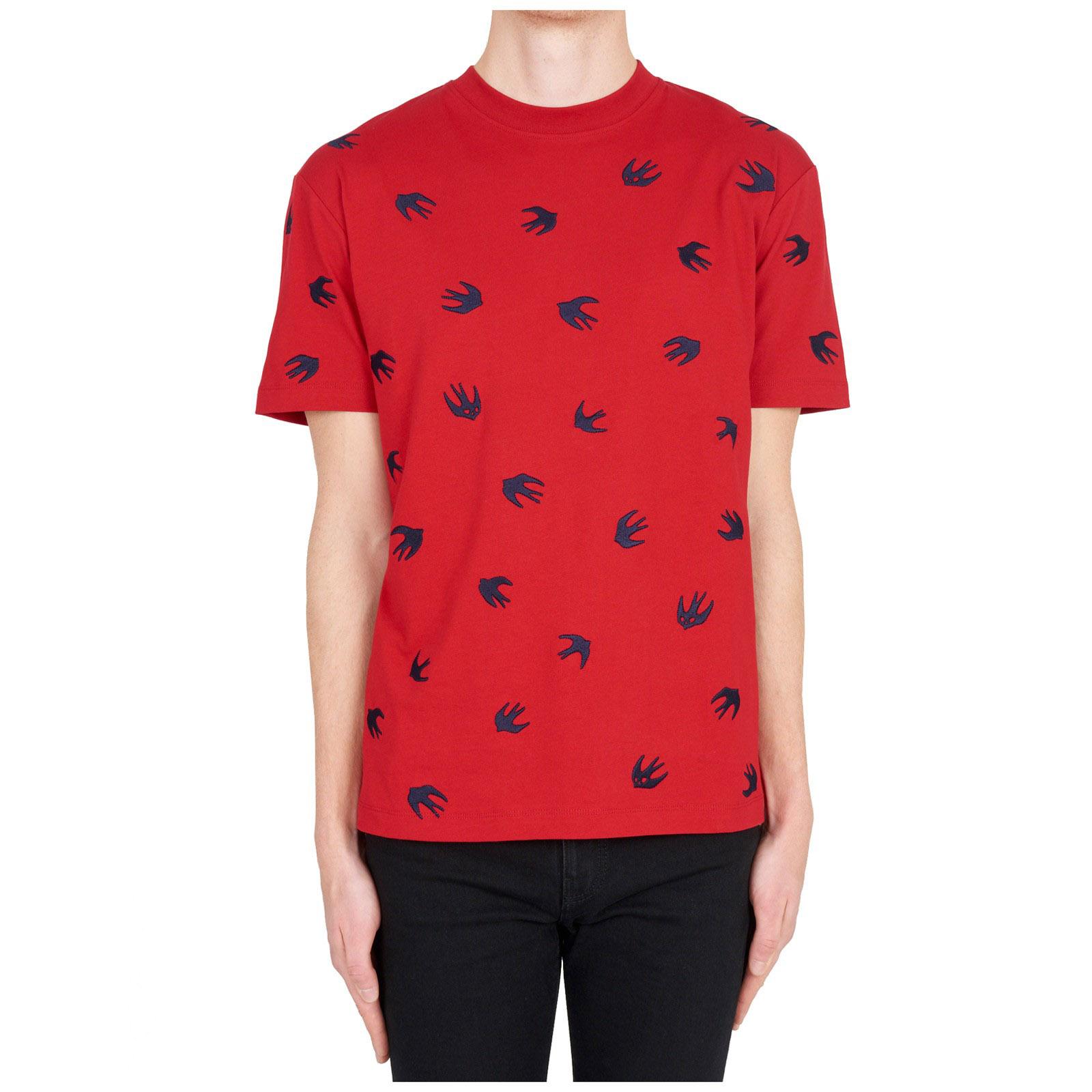 T-shirt maglia maniche corte girocollo uomo swallow