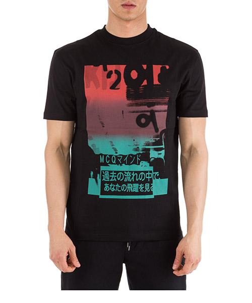 T-shirt MCQ Alexander McQueen 291571 RIR15 1000 darkest black