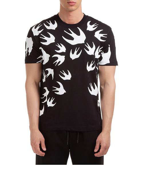 T-shirt MCQ Alexander McQueen swallow 291571RLT711000 nero