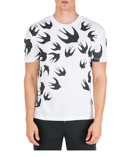 Camiseta MCQ Alexander McQueen Swallow 291571RLT719000 bianco