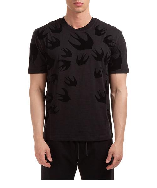 T-shirt MCQ Alexander McQueen swallow 291571RLT731000 nero