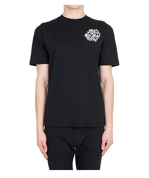 T-shirt MCQ Alexander McQueen Cube 291571RLT891000 nero