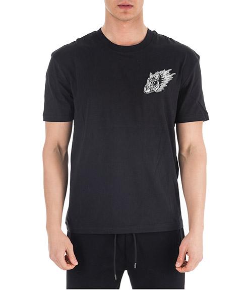 T-shirt MCQ Alexander McQueen Rabbit 291571RMT591000 black