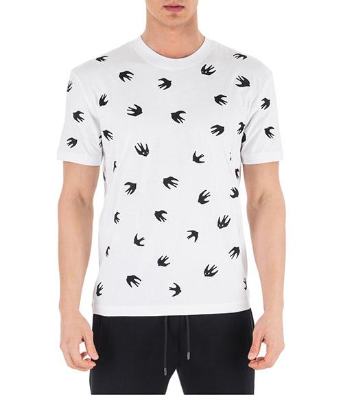 T-shirt MCQ Alexander McQueen Swallow 291571RMT649000 bianco