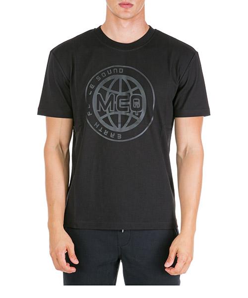 Camiseta MCQ Alexander McQueen Universal Globe 291571RNR241000 nero