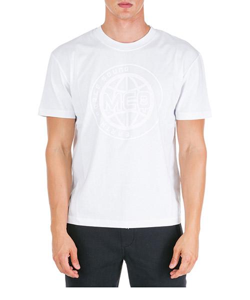 T-shirt MCQ Alexander McQueen Universal Globe 291571RNR249000 bianco