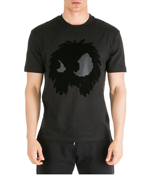 T-shirt MCQ Alexander McQueen Chester Monster 291571RNT491000 black
