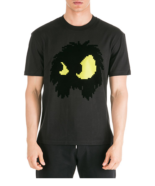 T-shirt MCQ Alexander McQueen Chester Monster 291571RNT491048 black