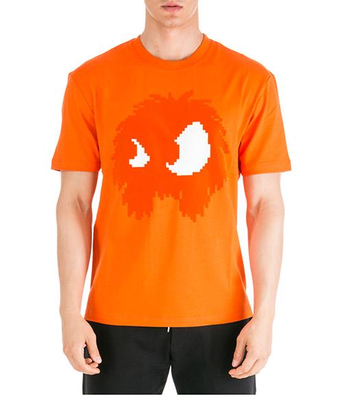 T-shirt MCQ Alexander McQueen Chester Monster 291571RNT496432 arancione
