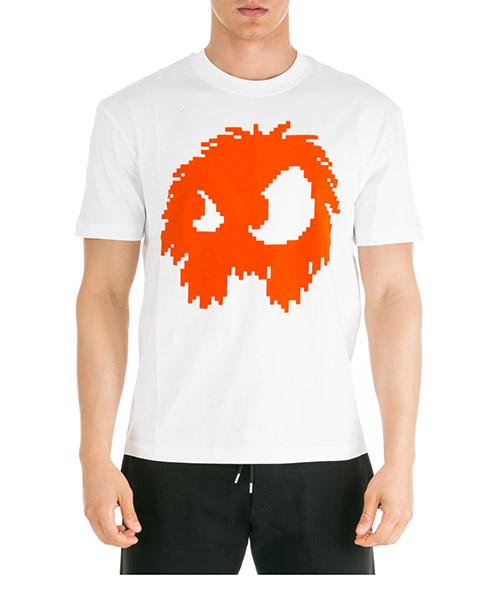 T-shirt MCQ Alexander McQueen Chester Monster 291571RNT499000 bianco ottico
