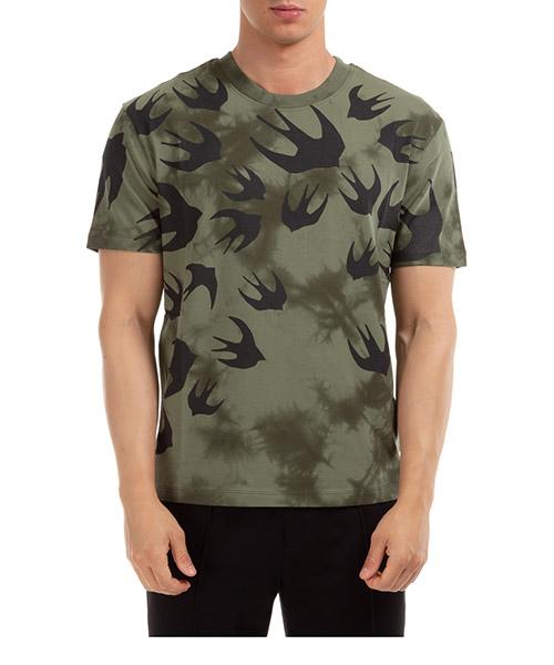 T-shirt MCQ Alexander McQueen swallow 291571RPR113049 verde