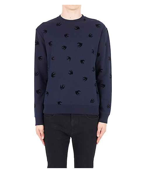 Sweatshirt MCQ Alexander McQueen Micro Swallow 348190RIT144004 ink - dark black flock