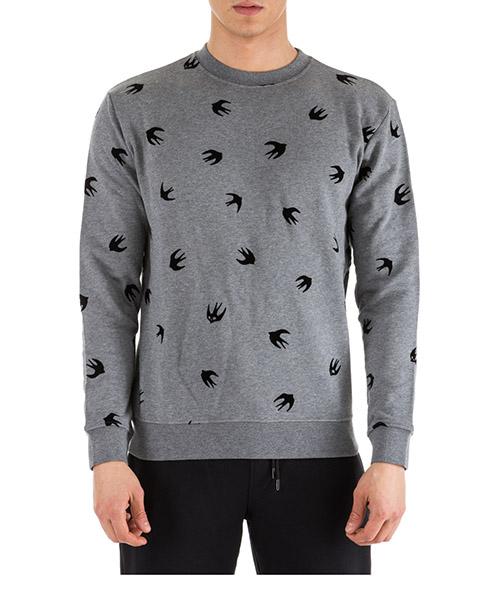 Sweatshirt MCQ Alexander McQueen 348190 RIT69 1244 stone grey melange
