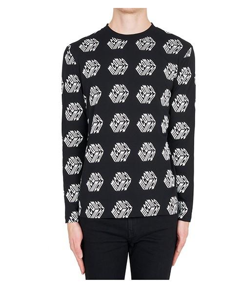 Long sleeve t-shirt MCQ Alexander McQueen Cube 379821RLT611000 nero
