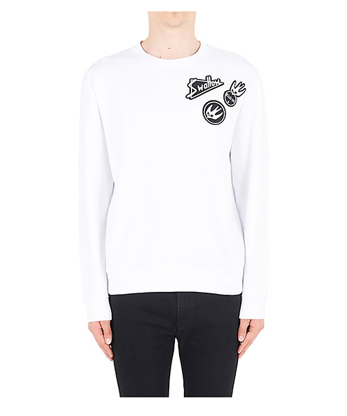 Long sleeve t-shirt MCQ Alexander McQueen Swallow 415099RKT059000 bianco