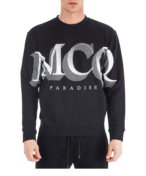 Felpa MCQ Alexander McQueen Paradise 415099RLH431000 nero