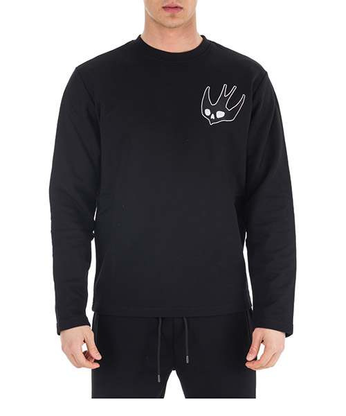 Sweatshirt MCQ Alexander McQueen Swallow 460999 RIT03 1000 darkest black
