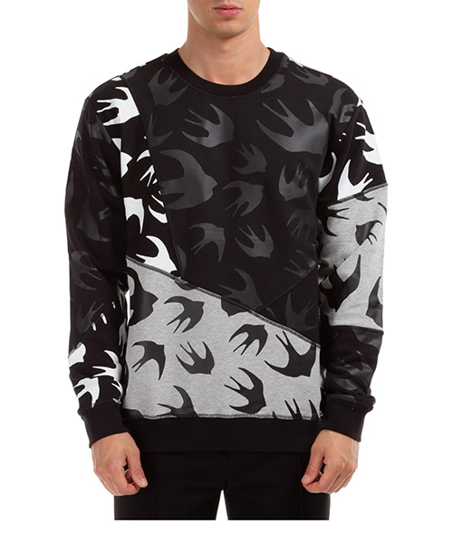 Herren sweatshirt cut up swallow