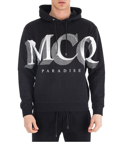 Hoodie MCQ Alexander McQueen Paradise 494034RLH431000 nero