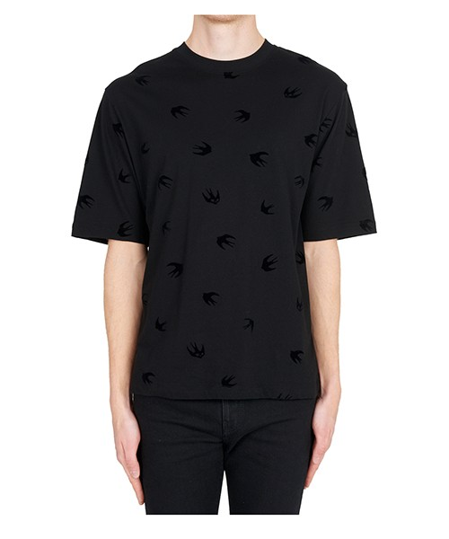 T-shirt MCQ Alexander McQueen Mini Swallow 494711RLT751000 nero