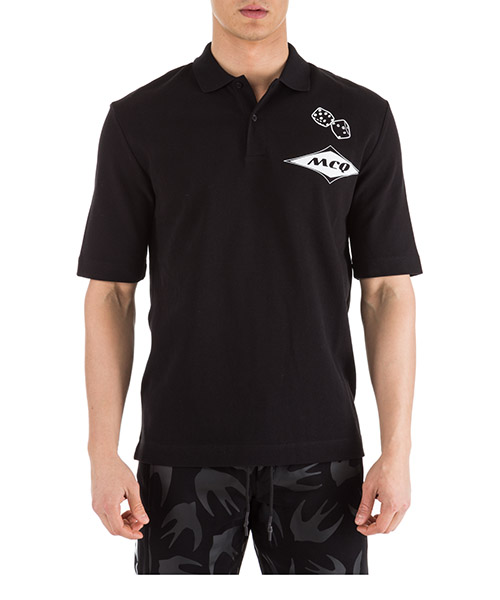 Poloshirt MCQ Alexander McQueen 499453RMT781000 nero